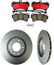 2 OPparts REAR Rotors Kit Back Disc Rotor Brake brembo Pad Set for Volvo xC90