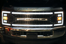 Custom Steel Acrylic LED Lit Grille for Ford Super Duty F250,F350,F450 2017-2019