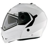Caberg Duke Flip Front DVS Touring Motorcycle Motorbike Helmet - Metal White