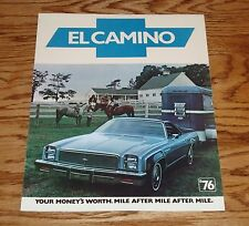 Original 1976 Chevrolet El Camino Foldout Sales Brochure 76 Chevy
