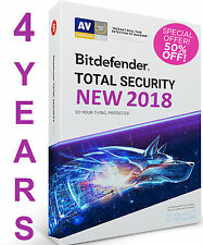 Bitdefender Total Security 2018I 4 YEAR 1 DEVICE I PRE-ACTIVATED I NO KEYI NO CD