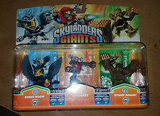 Skylanders Giants Figure Triple Pack Sonic Boom Sprocket Stump Smash New