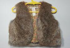Bonpoint Girls Rabbit Skin Vest, Size 2 yrs