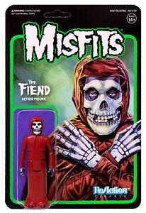 "THE MISFITS 'Crimson Red' Misfits Fiend 3.75"" ReAction Figure Super7 Midnight"