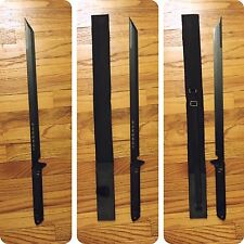 "28"" Ninja Samurai Sword Katana Tactical Black With 19"" Stainless 440 Steel Blade"