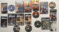Playstation 2 X-Men Legends 1 & 2, Iron Man, Justice League, Marvel Nemesis PS2+