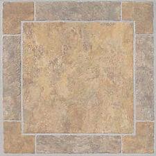 Marble Vinyl Floor Tile 36 Pc Adhesive Kitchen Flooring - Actual 12'' x 12''