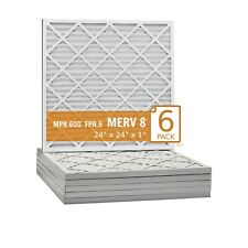 Pack of 6 Mechanical MERV 8 18 Width x 24 Height x 1 Diameter 18 Width x 24 Height x 1 Diameter Sterling Seal FI-8401-SP1x6 Purolator Hi-E 40 Extended Surface Pleated Air Filter Pack of 6