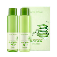 [NATURE REPUBLIC] Soothing & Moisture Aloe Vera Skin Care Set - 1pack (2pcs)