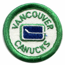 "1970'S VANCOUVER CANUCKS NHL HOCKEY VINTAGE 2"" ROUND TEAM PATCH CREST"