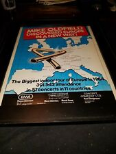 Mike Oldfield Rare Original 1984 European Tour Promo Poster Ad Framed!
