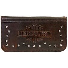 Harley-Davidson Mens Leather iPhone 5 Case with Metal Studs