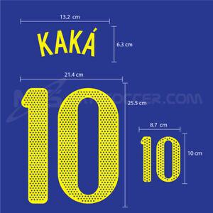 BRAZIL Away World Cup 2010 PU SOCCER FOOTBALL NAME NUMBER PRINT