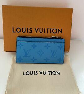 Louis Vuitton Coin Card Holder Taigarama Blue