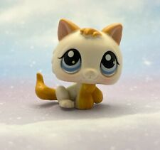 Littlest Pet Shop Authentic # 134 White Orange Tan Baby Kitten Blue Eyes