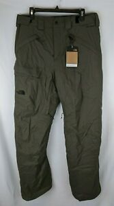 The North Face Freedom Insulated Snow Pants, Green, Men's Large (Long)