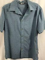 The North Face Blue Gray Short Sleeve Shirt Diamonds Men's Size XL