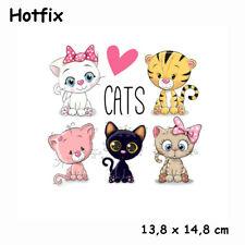Kinder Bügelbild  Cats Hotfix Applikation für Ihre Textilien  13,8 x 14,8 cm