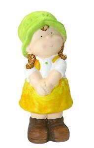 Figur Mädchen Keramik 21cm Landhaus Garten Enkelkind Shabby Puppe Dekofigur