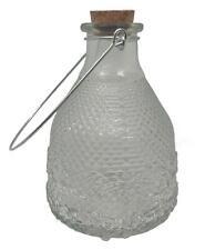More details for esschert design hanging table top clear hobnail glass wasp fly trap bottle