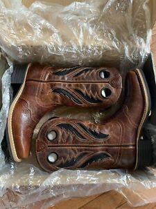 NWT Ariat Heritage Roughstock VentTEK Mens Western Cowboy Boots Size 9D TAN