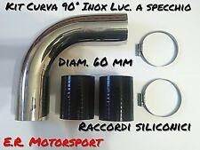 angolo 30/° diametro 35 mm Set 3 Curve in acciaio inox Aisi 304 spessore 1 mm