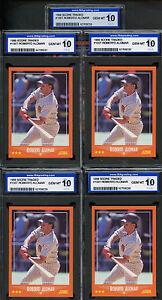 Lot of (5) 1988 Score Traded #105T Roberto Alomar Padres ISA 10 GEM MINT