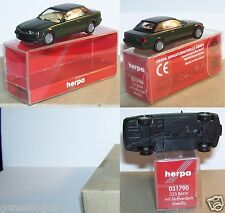 MICRO HERPA HO 1/87 BMW 325 CABRIOLET FERME VERT METAL IN BOX