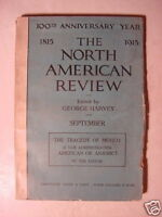 NORTH AMERICAN REVIEW September 1915 WWI A. P. GARDNER