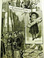 EASTER SUNDAY FIFTH AVENUE NYC OFFERING 1883 Print Matted