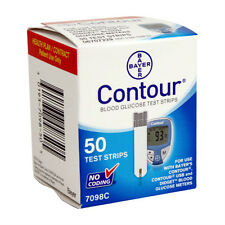 Bayer Contour Blood Glucose 50 Test Strips Exp Date 01/30/2019