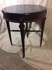 New listing Antique stand, brass Rollers Ebonized Top,Ships Freight/Local pick up.Make Offer