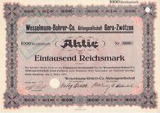 Wesselmann-Bohrer Co. AG  Gera - Zwötzen  1931