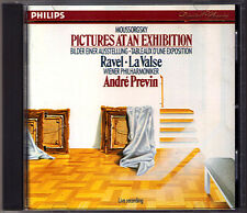 Andre PREVIN: MUSSORGSKY Pictures at an Exhibition RAVEL La Valse CD PHILIPS WPO