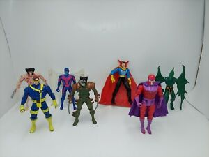 Vintage X-Men Action Figure Lot of 7