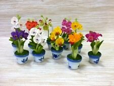 Set 10 Miniatures Orchid Flower Clay Mixed Handicrafts Home & Room Items Decor