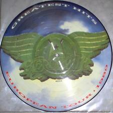 EX/EX! AEROSMITH GREATEST HITS VINYL LP PICTURE PIC DISC (EUROPEAN TOUR 1989)