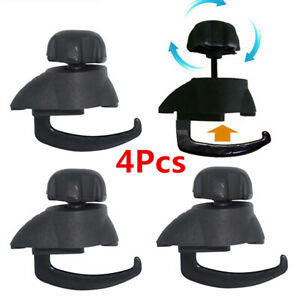 4x Car Roof Rack Bar Mount Clamp Cargo Bag Fastener Quick Lock Holder Accessory