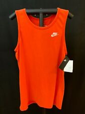 Nike Men's Activewear Tank Top Shirt, Athletic Cut, Tangerine, Small, NWT