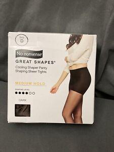 No nonsense Cooling Panty Shaping Sheer Tights Size D • Dark • Medium Hold
