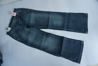 GSUS Damen Bootcut Jeans Hose Flare Schlag 26/32 W26 L32 stonewash used blau TOP
