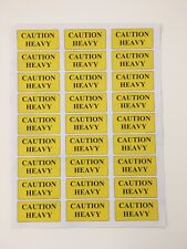 CAUTION HEAVY Warning Labels Promotion Pack of 108 Stickers Each size 63 x 29 mm
