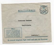 SWEDEN: Swedish UN Battalion Egypt 1959 cancellation on military cover