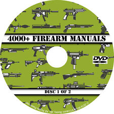4000+ Firearm Manuals DVD Rifle Carbine Pistol Shotgun Revolver Gun pdf CD Disc