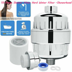 15Stage Shower Filter,High Output Shower Water w/KDF55 Remove Chlorine&Fluoride