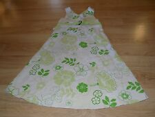 Girls Size 14 Bonnie Jean Cream Off White Green Floral Flower Easter Dress TBack