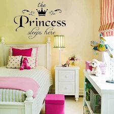 Removable Princess Sleeps Wall Stickers Art Vinyl Decals Baby Girls Room Decor