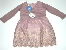 Charabia New Girls Toddler PINK JULIA LS EMBELLISHED DRESS Sz 2 RTL: $209 P328