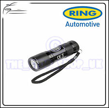 Ring Hand Held 9 LED Compact Aluminium Torch + Case RT5158