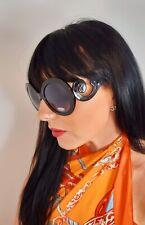 Designer Inspired Sunglasses Black Oversized Swirl Arms Tinted UV400 NEW